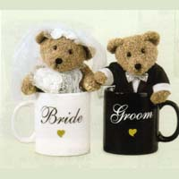 【GANZ】 Bride & Groom Bears In Mugs Set