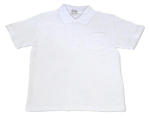 子供白ポロシャツ半袖